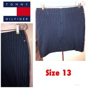 TOMMY Hilfiger Navy Blue pin stripe skirt Sz 13